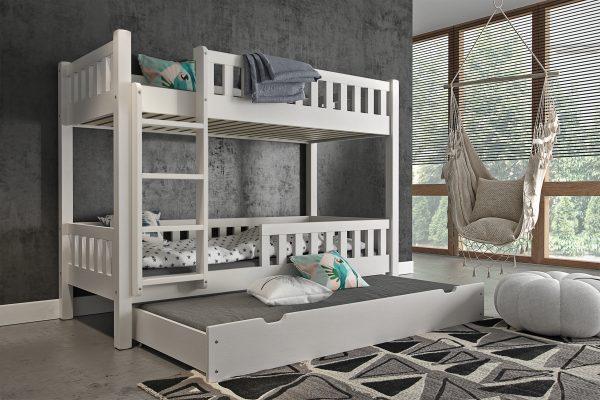 poschodová posteľ s prístelkou