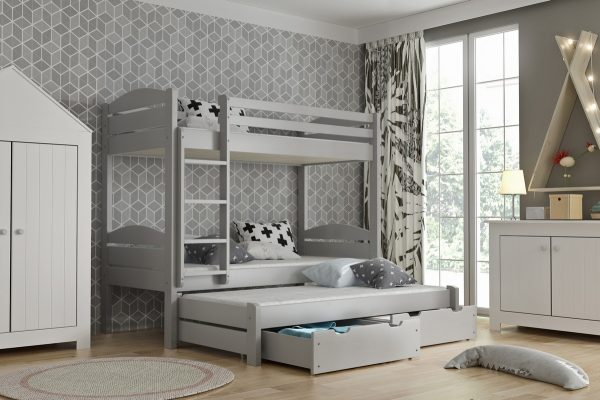 Poschodová posteľ Lukas siva